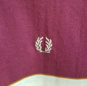 1fd73c84f Fred Perry Shirts - Vintage Fred Perry Polo Maroon and Vanilla Men's L